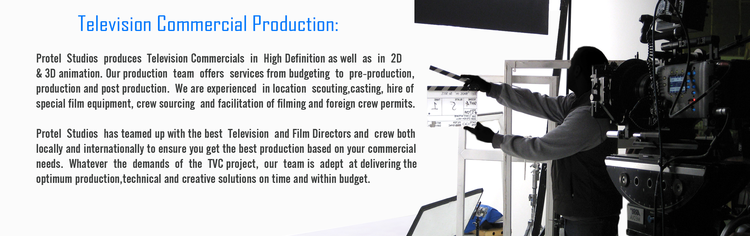 Television Commercial Production X
